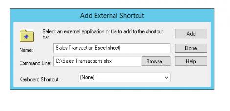 add-external-shortcut-microsoft-dynamics-gp
