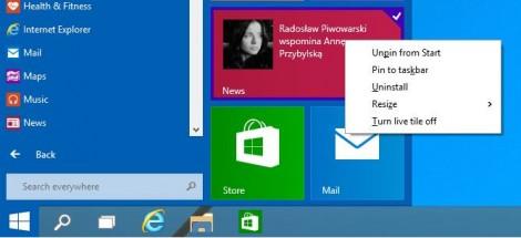customise start menu on windows 10