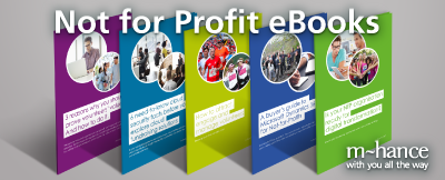 NfP resources by charity marketing software provider m-hance