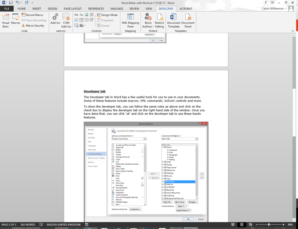 microsoft-word-customising-the-ribbon